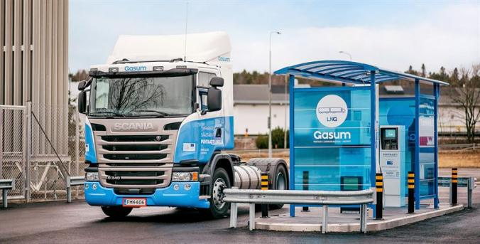 Nordic heavy-duty road transport entering the age of gas