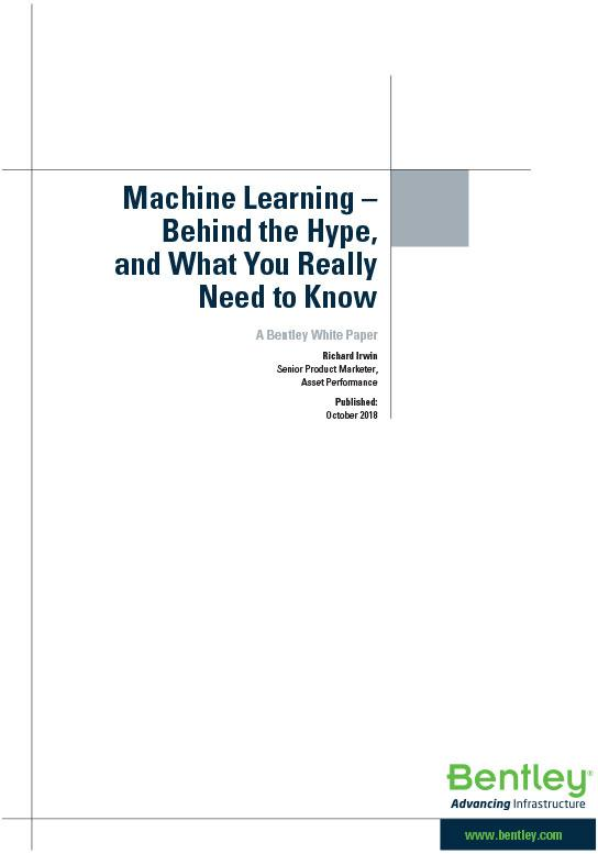 Machine learning – Behind the Hype
