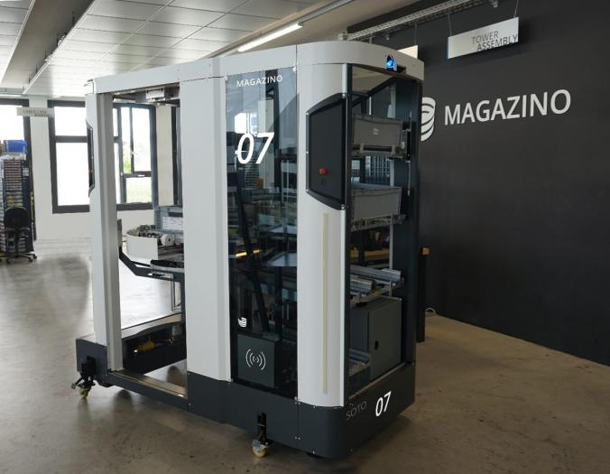 Magazino equips mobile robot with inductive charging system
