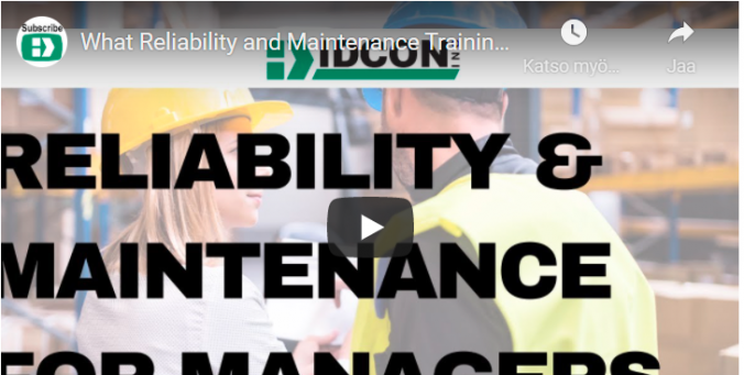 What Reliability and Maintenance Training Do Managers Need?